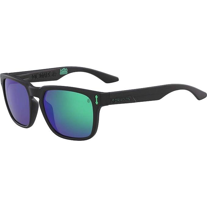Dragon Negro mate H2O verdes ionizadas gafas de sol Monarch ...