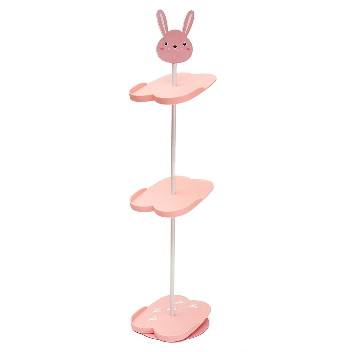 NPLE--4 Tiers Lovely Cartoon Animal Kid's Shoe Rack Holder Portable Stand Storage New