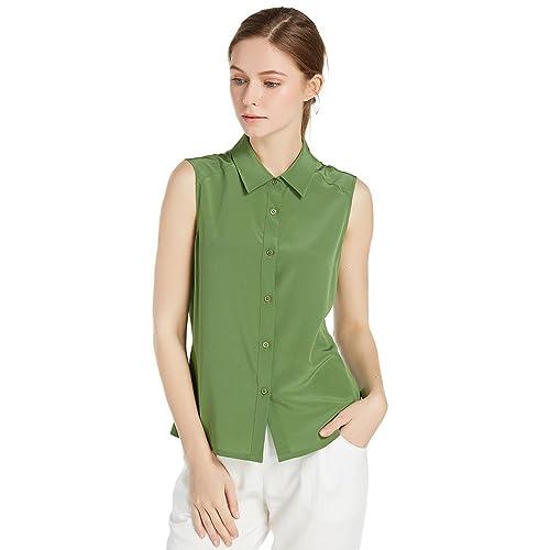 Lilysilk Camisa Para Mujer Sin Mangas Blusa Básico de 100% Seda de Mora DE 18 Momme