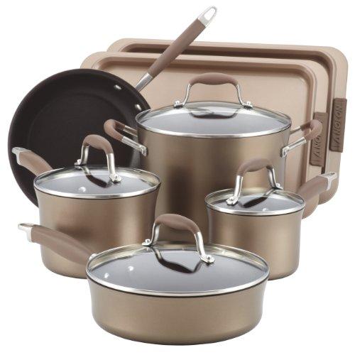 Anolon Advanced Bronze Nonstick 9-Piece Cookware Set with 2-Piece Bakeware Bonus