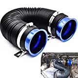 "Universal 3"" Flexible Adjustable Cold Air Intake Pipe Inlet Hose Duct Kit(Blue)"