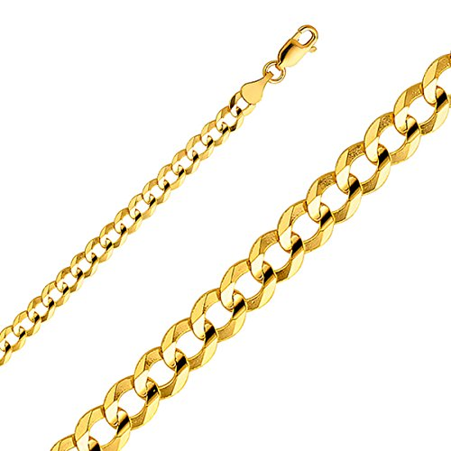 14k Yellow Gold 4.7mm Curb Cuban Chain - (22 Inches) by Top Gold & Diamond Jewelry
