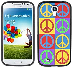 Peace Signs Symbols Handmade Samsung Galaxy S4 Black Bumper Hard Plastic Case by icecream design
