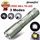 Flashlight,Baomabao Focus 4000 Lumens 3 Modes CREE XML T6 LED 14500/AA Flashlight Torch Lamp