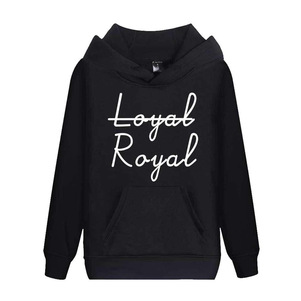 junkai Felpe Unisex Felpe Maglioni con Stampa a Lettera Royal Fedele Camicetta Pullover Pullover