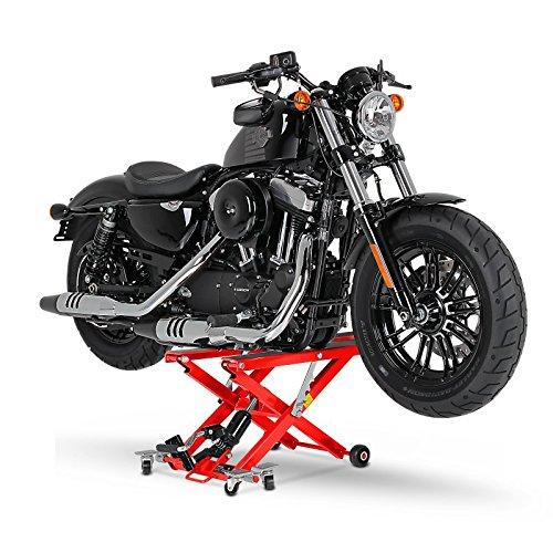 Distanzst/ücke 500 kg Rot ConStands-Motorrad Hebeb/ühne f/ür Harley Davidson Road King//Classic Softail Breakout Hydraulisch XL inkl