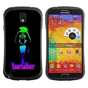 Paccase / Suave TPU GEL Caso Carcasa de Protección Funda para - Your father Funny Vader - Samsung Note 3 N9000 N9002 N9005
