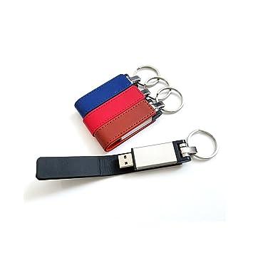 USB Flash Drive 4 pcs azul/color rojo/marrón/negro, piel ...