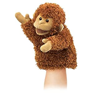 amazon com folkmanis little monkey hand puppet toys games