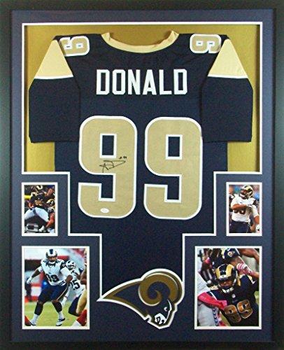 Aaron Donald Framed Jersey Signed JSA COA Autographed St. Louis Rams