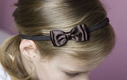 Olivia Baby Bow Headband Olivia Satin Bow Handmade Headband Girls Headband Baby to Adult Headband Dusky Rose