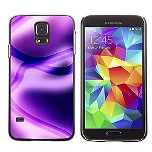 TopCaseStore / la caja del caucho duro de la cubierta de protección de la piel - Abstract Purple - Samsung Galaxy S5 SM-G900