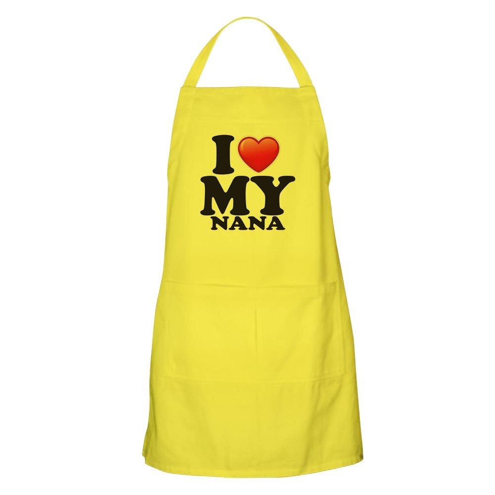 Apron I Love My Nana Grandma Grandmother - Lemon by Royal Lion (Image #1)