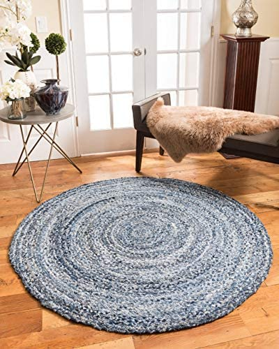 Natural Area Rugs Hand Woven Brasilia Contemporary Rug , 7 Round