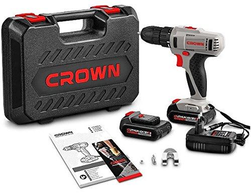 Crown CT21052LHBMC Taladro Atornillador 12 V Gris y Negro
