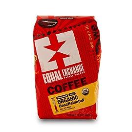 Equal exchange organic coffee: decaf, whole bean, 3 - 12 ounce bags 2 whole bean organic decaf fair trade small farmer grown