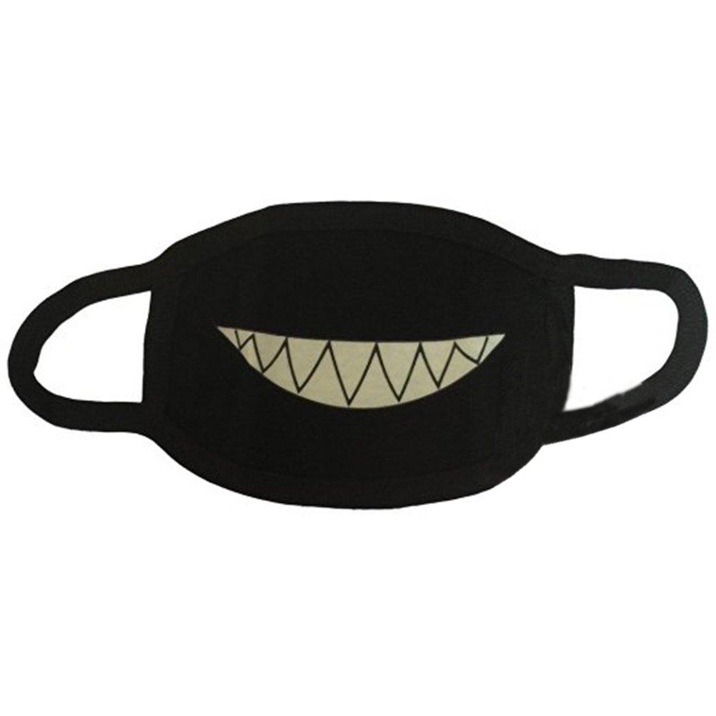 LEORX unisexe visage dents lumineux poussiè re bouche masque cosplay anime cadeau