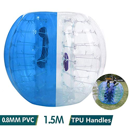shaofu Inflatable Bumper Ball Dia 4/5 ft (1.2/1.5 m) Human Hamster Ball for Adults/Kids Eight Colors(US Stock) (Dia 5 ft/Blue) -