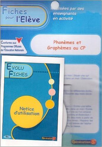 Téléchargement Phonèmes et graphèmes au CP : Evolu fiches pdf epub