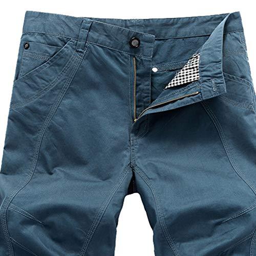 Da Uomo Casual Pantaloncini Blu pantaloncini Cotone Leey Uomo n1WSO1x
