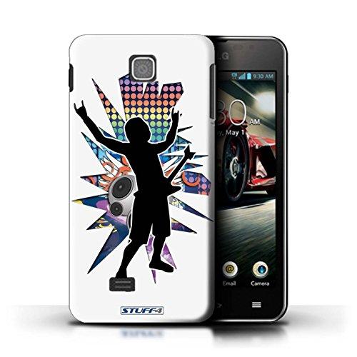 Coque de Stuff4 / Coque pour LG Optimus F5/P875 / Rock n Roll Blanc Design / Rock Star Pose Collection