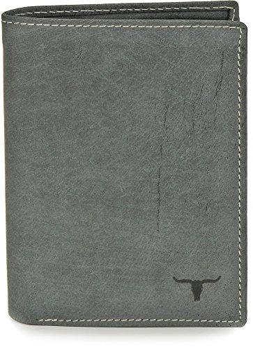 URBAN FOREST, Cntmp, Portafoglio In Pelle, Portamonete, Portafogli, In Pelle Naturale, 9,5 x 12,5 x 2 cm antracite