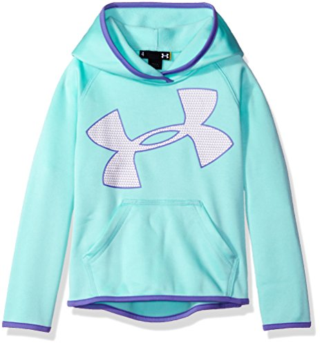 Under Armour Little Girls' UA Logo Hoodie, Crystal, 6