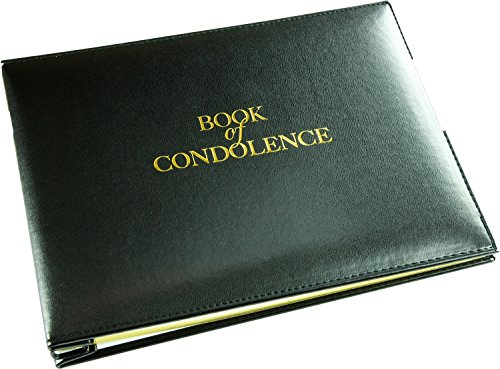 Book of Condolence - Loose Leaf - Black - Funeral Guest Book - Memorial Book - Presentation Boxed - (LARGE SIZE - Width 10.5 inch - Height 7.6 inch - Depth 1.2 inch) by Esposti