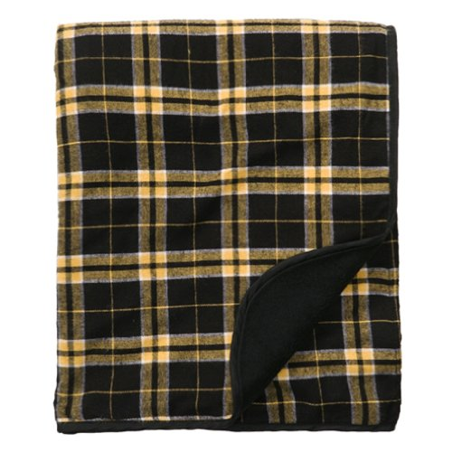 Price comparison product image Boxercraft Flannel Blanket/Throw (Black/Gold)