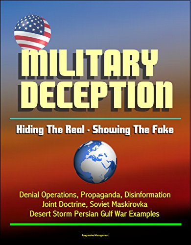 Military Deception: Hiding The Real - Showing The Fake - Denial Operations, Propaganda, Disinformation, Joint Doctrine, Soviet Maskirovka, Desert Storm Persian Gulf War Examples - Usmc Shield