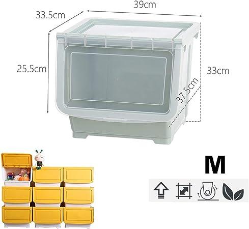 Armarios La gaveta de Almacenamiento - Laterales Abiertos - Snacks, Ropa, Caja de Almacenamiento de Juguete del niño - gabinete de plástico Organizador (Color : M-Green, Size : 2 Pack): Amazon.es: Hogar