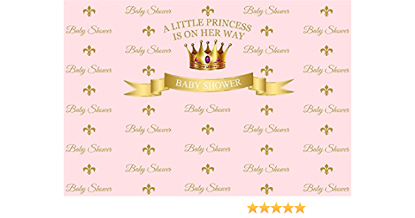 GoEoo 5x5ft Pink Baby Shower Background Girl Shoes Little Princess Gender Reveal Backdrop for Decor Expected Mother Party Decorations Video Drapes Photo Booth Props