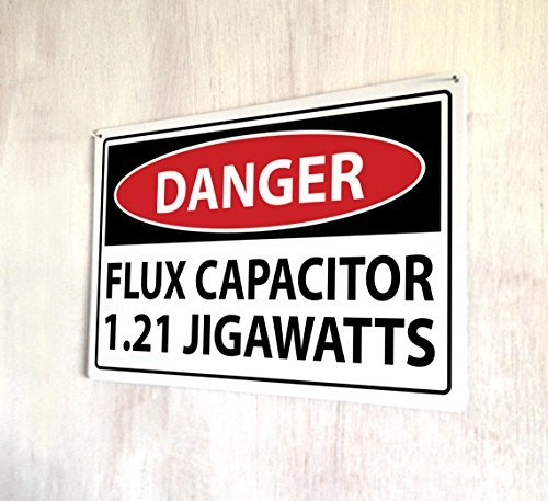 Vintage Capacitors - Flux Capacitor Back the the future movie Metal Signs Retro Vintage Shabby Metal Wall Plaque Home Decor Wall Art door wall art
