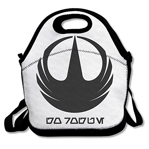 [Black Rogue One Logo Unisex Lunch Tote Bag For Woman Man Kid] (Toddler X-wing Fighter Costume)