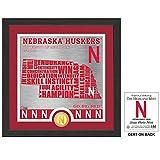 "NCAA Nebraska Cornhuskers""State"" Bronze Coin Photo Mint, 18"" x 14"" x 3"", Bronze"