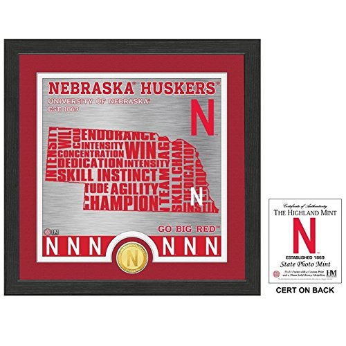 - NCAA Nebraska Cornhuskers State Bronze Coin Photo Mint, 18