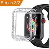 bling bumper case - Case for Apple Watch 3 2 38mm, GHIJKL Bling Bumper Accessories Ultra Slim Protector Cover for Apple Watch Series 3 Series 2, Crystal Clear