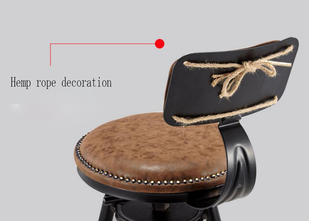 Qff sedie in ferro art sgabello da bar vintage sedia da caffè in