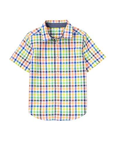 Gymboree Big Boys' Seersucker Shirt, Multi, (Seersucker Big Shirt)