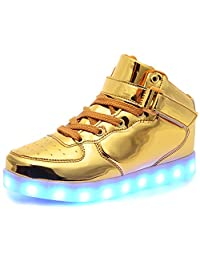 Odema Girls Boys Light up Shoes High Top LED Athletic Flashing Sneakers Ankle Boots