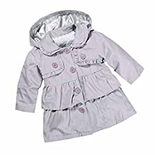 Kids Baby Girls Spring Fall Ruffle Trench Wind Dust Coat Hooded Jacket Outerwear