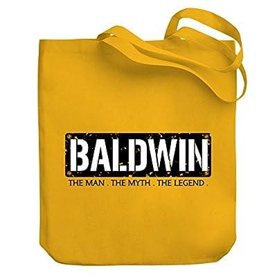 de8f1519a2b5 chic Teeburon Baldwin THE MAN THE MYTH THE LEGEND Canvas Tote Bag ...