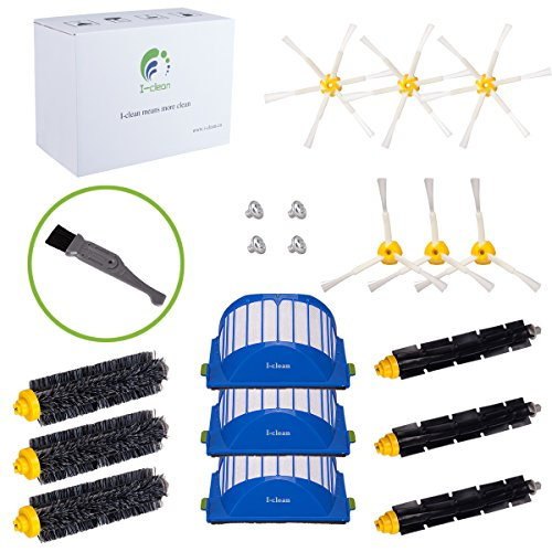 I-clean For Roomba 650,620,630,770 Vacuum Cleaner Accessories, 15Packs Replacement iRobot Roomba Parts Brushes Filters 600&700 Series(With a Free Cleaning - Head Square I Have A