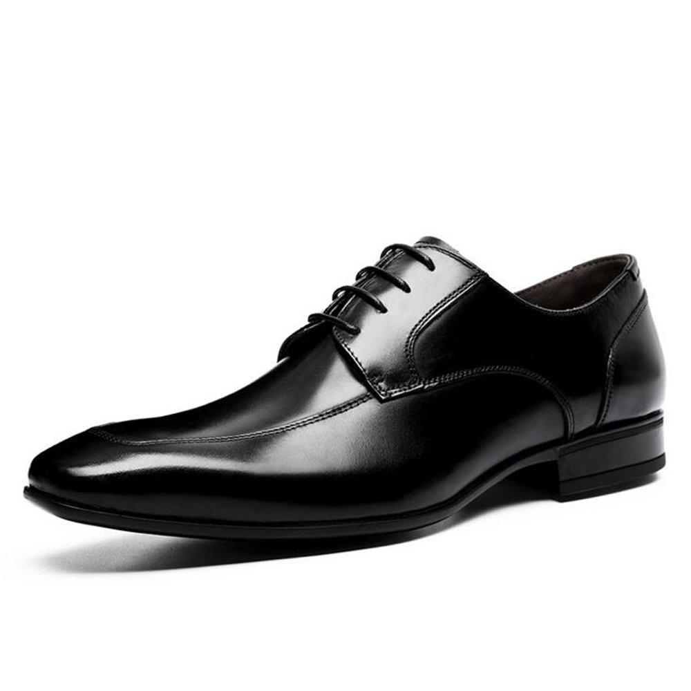 QARYYQ Chaussures habillées pour Hommes avec des Chaussures de Bureau légères et légères de 39 à 44 mètres Bottes en Cuir pour Hommes (Color : Black, Size : 41)