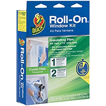 Duck Brand 285649 Roll-On Indoor Extra Large Window/Patio Door Premium Insulating Film Kit, 84-Inch x 112-Inch