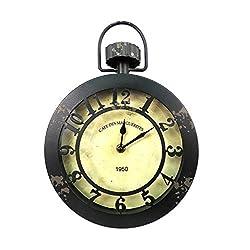 Concepts Black Rustic Vintage Wall Hanging Clock