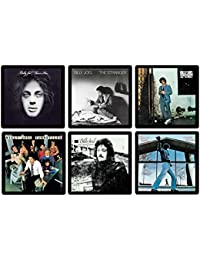 PickUp Billy Joel Coaster Collection - (6) Different Album Covers Reproduced Onto Absorbent, Soft, Drink Coasters - by... wholesale