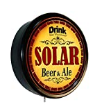 SOLAR Beer and Ale Cerveza Lighted Wall Sign