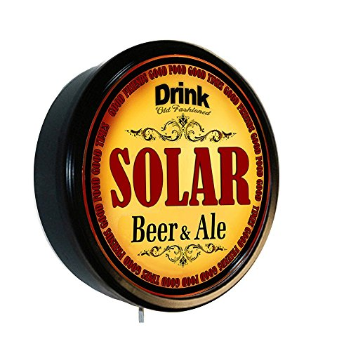 SOLAR Beer and Ale Cerveza Lighted Wall Sign by Goldenoldiesclocks