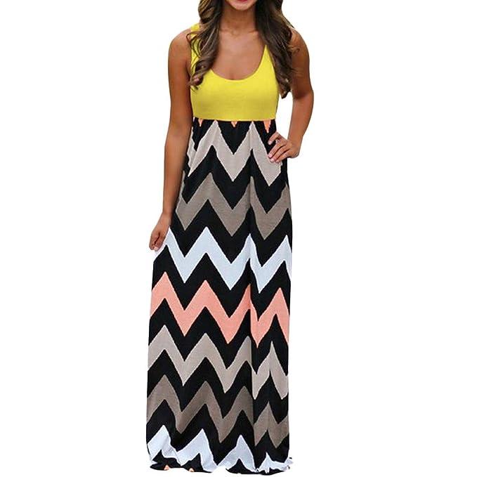a146f9874 Vestidos Mujer Verano 2018 Boho Vestido Largo Playa Mujer Manga Corta Moda  Raya Vestido Casual Vestir Sexy Floral Vestido Maxi Vestidos de Camisa  Túnica ...